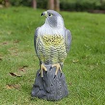 RioRand Highly Realistic Plastic Falcon Decoy Garden Bird Crow Scarer Scarecrow Weed Pest Control