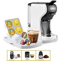 Multi-Function 3-1 Coffee Machine (Nespresso, Dolce Gusto and Ground Coffee) - HiBrew Coffee Machine (White)