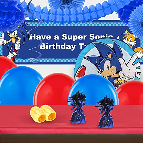 BirthdayExpress Sonic The Hedgehog Party Supplies - Complete Party Decoration Kit -