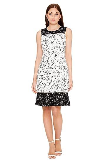 6e3a85ade53 Roman Originals Womens Polka Dot Print Fit and Flare Dress - Ladies Spot  Print Retro Party