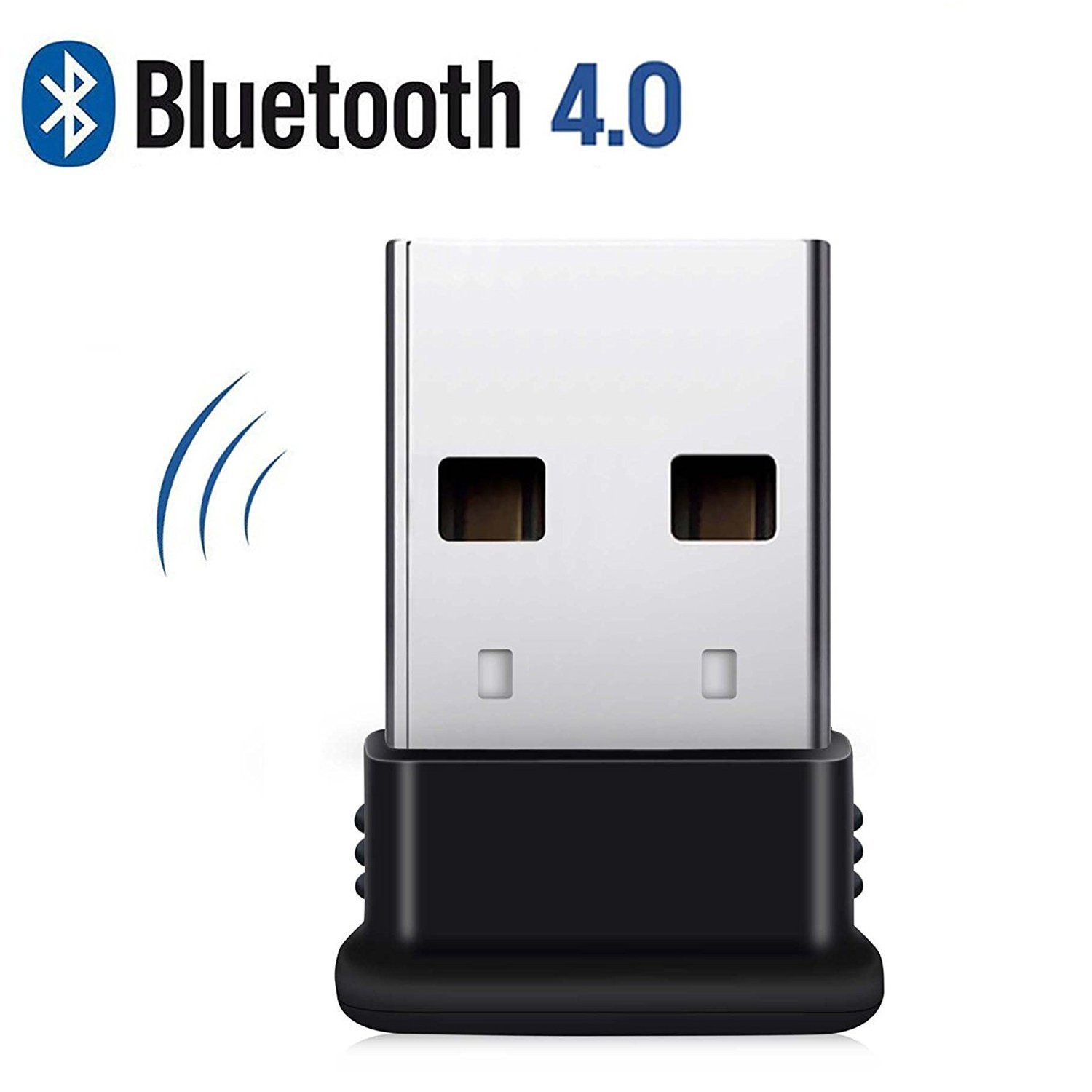 Bluetooth USB Adapter, 4.0 USB Bluetooth Dongle for desktop,Windows 10/8.1/8, Vista and XP, Devices with 2.4Ghz range by KEY IDEA (Black) by KEY IDEA (Image #2)