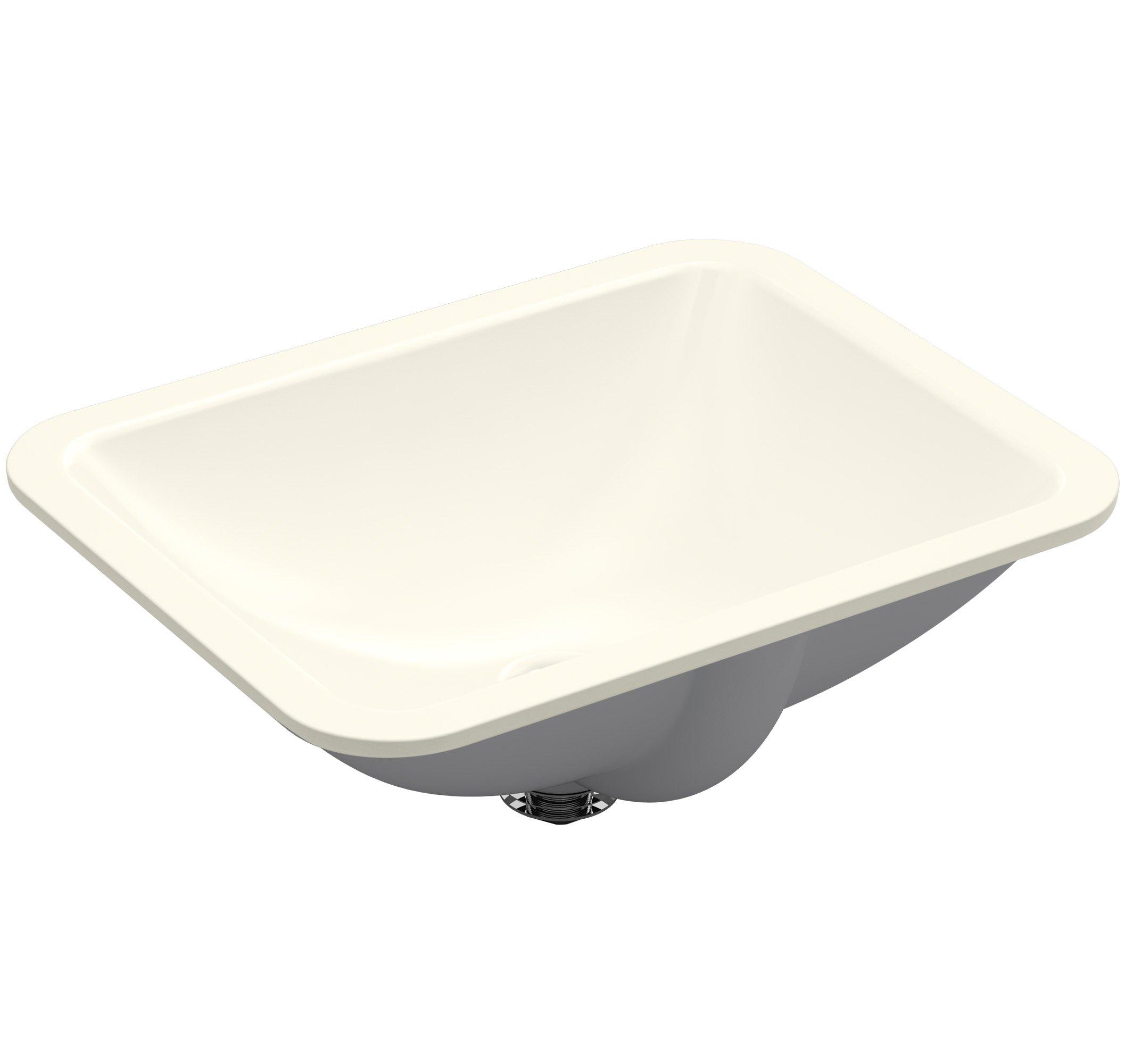 KOHLER K-20000-96 Caxton Rectangle 20-5/16 x 15-3/4 In. Undermount Bathroom Sink, Biscuit