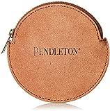 Pendleton Women's Suede Coin Purse, Brown/Aqua, One Size