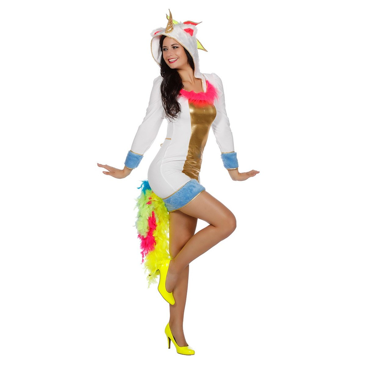 Einhornkostüm Kostüm Einhorn Mini Kleid Kapuze
