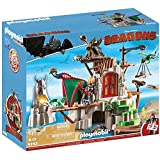 Playmobil 9243 Dragons Berk Island Fortress with Firing Cannons