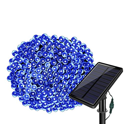 SOLARMKS 2 Pack Solar String Lights,33ft 100 LED Copper Wire Christmas Lights Outdoor Waterproof Garden Decoration for Patio, Gate, Yard, Party, Wedding, Christmas,Xmas Tree (Green)]()