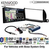 Volunteer Audio Kenwood Excelon DNX994S Double Din Radio Install Kit with GPS Navigation Apple CarPlay Android Auto Fits 2002-2004 Nissan Altima (With Bose)