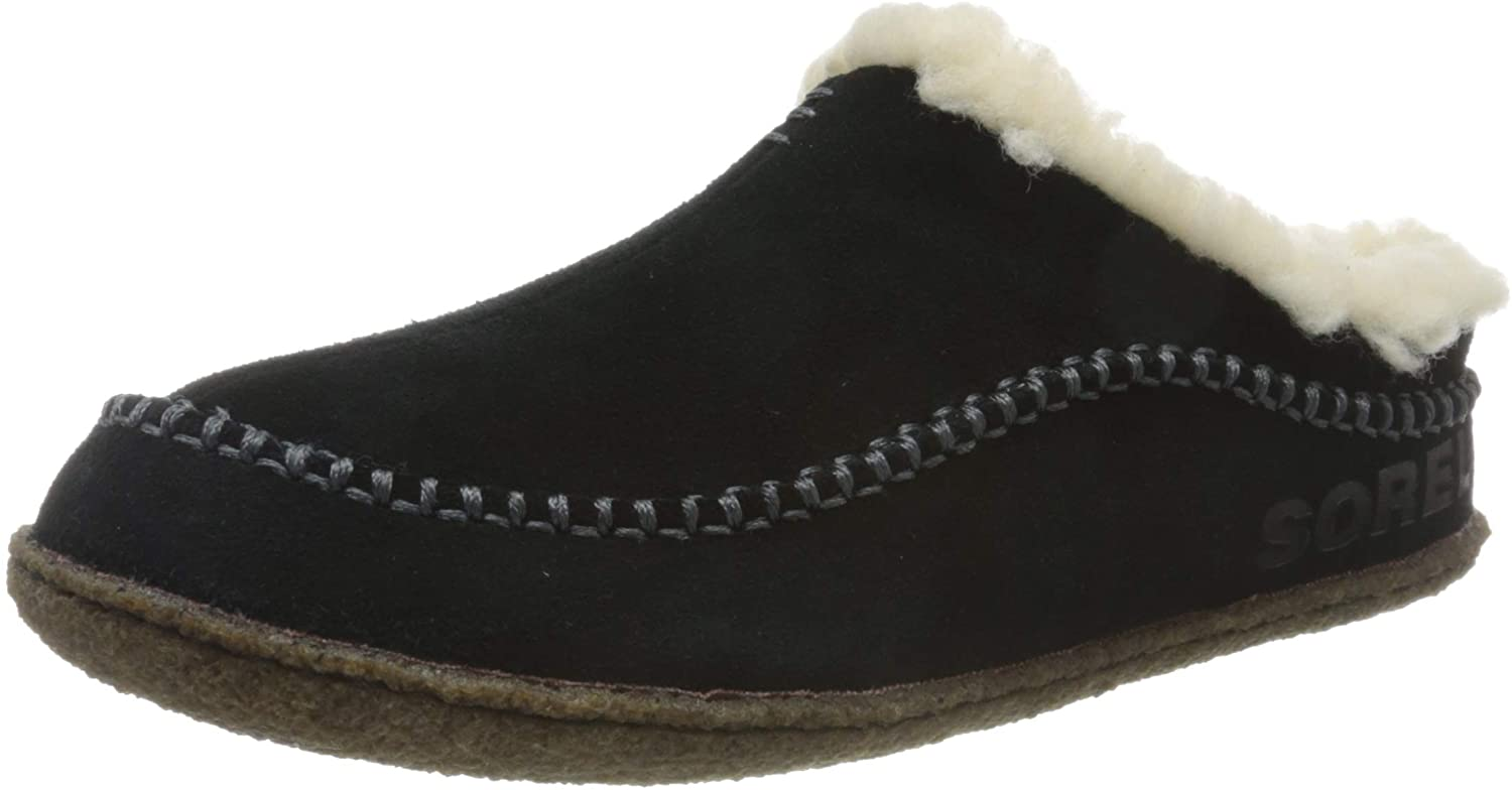 SOREL - Men's Falcon Ridge II House Slippers with Suede Upper and Wool/Polyester Lining