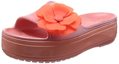 3395dd2afa750 Crocs Crocband Platform Vivid Blooms Slide Sandal