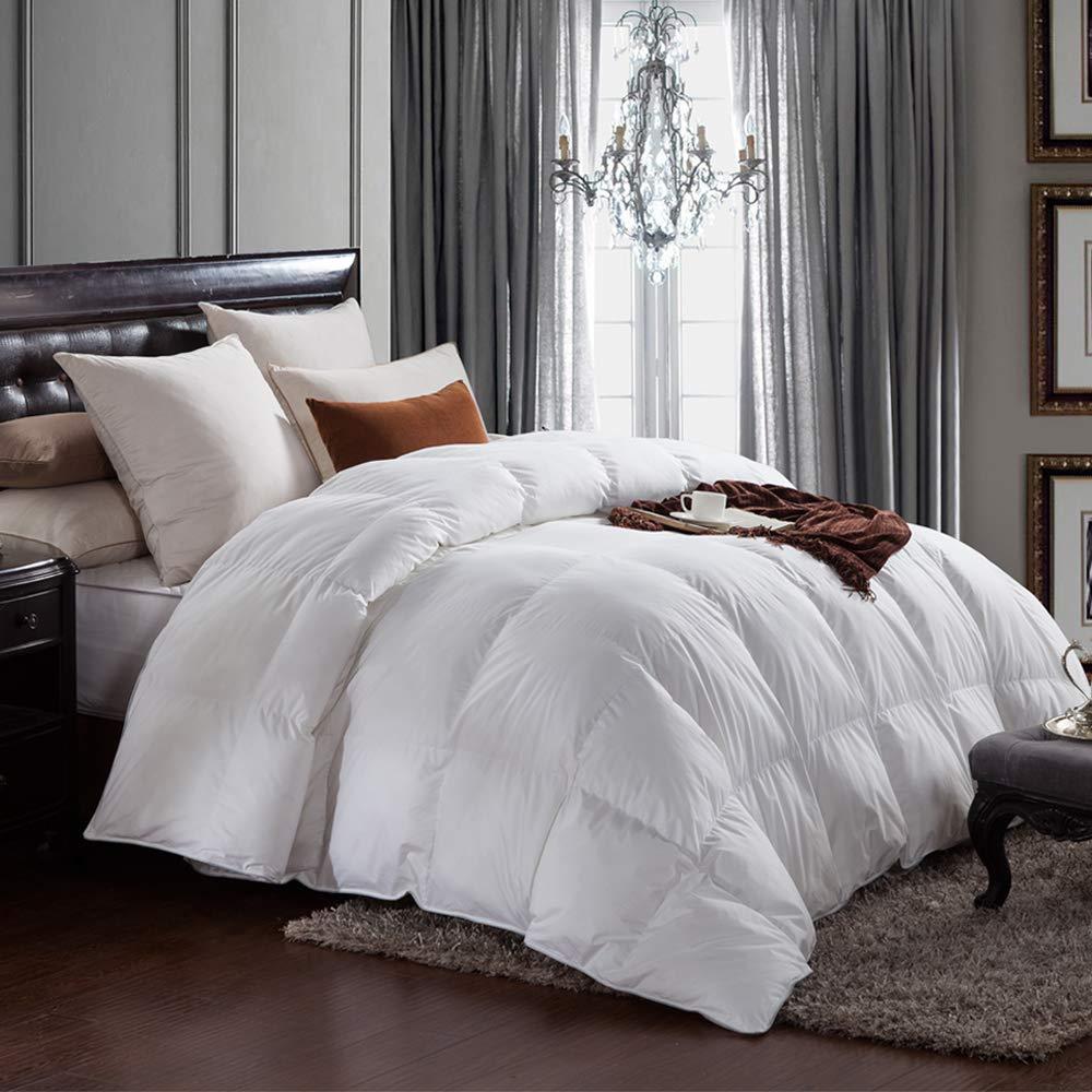 aikoful goose down comforter king cali king size solid white duvet insert white 707870842289 ebay. Black Bedroom Furniture Sets. Home Design Ideas