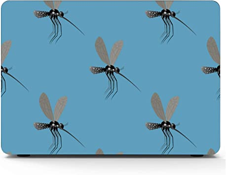 MacBook Pro Protective Case Summer Reptile Cartoon Mosquito Insect Plastic Hard Shell Compatible Mac Air 11 Pro 13 15 MacBook Cover 15 Inch Protection for MacBook 2016-2019 Version