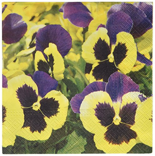 Abbott Collection Pansies Meadow Paper Napkins, Large (20...