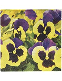 Buy Abbott Collection Luncheon Pansies Meadow Napkins, Multicolor opportunity