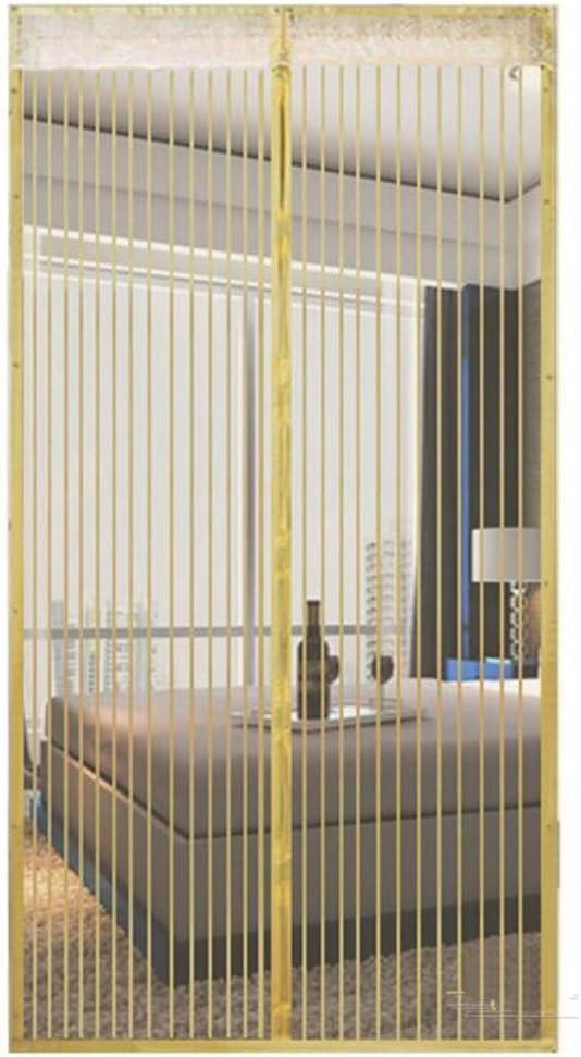 OLDLU Puerta de Pantalla de magnético,De Heavy Duty Mosquito Puerta de Malla con imán Este Hotel de Mascotas y niño Puerta corredera Patio Puerta Doble-Arroz Blanco 110x210cm(43x83inch): Amazon.es: Hogar