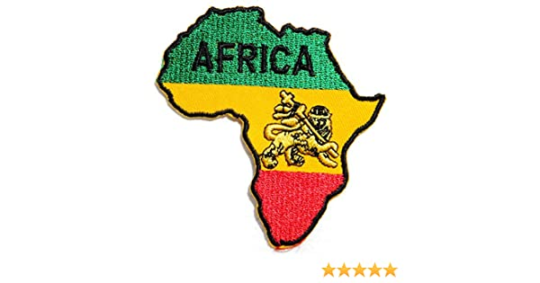 BRAND NEW AFRICA AFRICAN MAP IRON ON PATCH