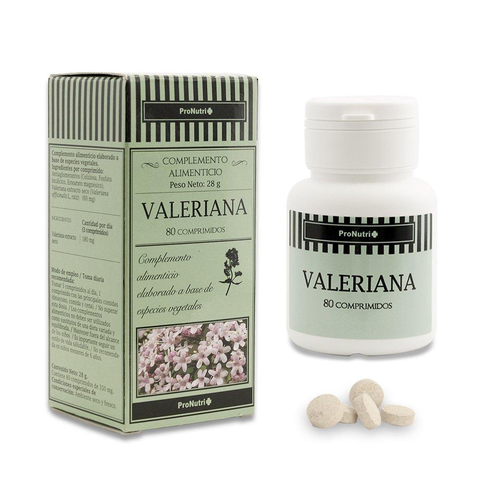 PRONUTRI - PRONUTRI Valeriana 80 comprimidos: Amazon.es: Salud y cuidado personal