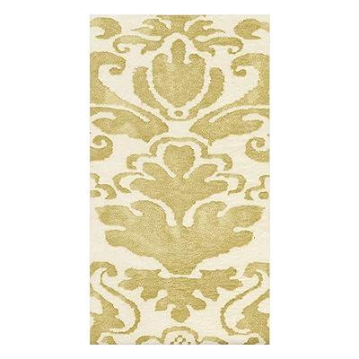 .com | Caspari Palazzo Paper Linen Guest Towel Napkins in Light Gold, Four Packs of 12: Cocktail Napkins
