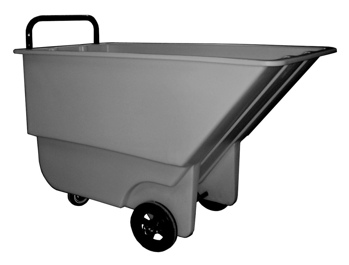 Bayhead 1/3 CU-L Polyethylene Light Duty Haul-All Tilt Truck, 8'' x 2'' Wheel, 275 lbs Capacity, 1/3 Cubic Yard