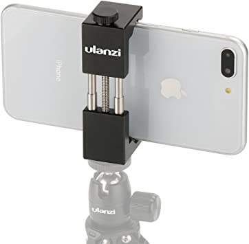 ULANZI ST-01 Aluminio Metal Teléfono trípode Universal Smartphone Adaptador para trípode Soporte para teléfono móvil para iPhone X/8/7/Plus/6 s Sumsang Xiaomi Android Smartphones: Amazon.es: Electrónica
