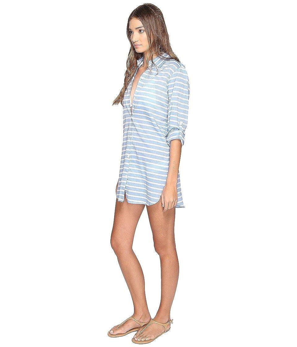 4de7752e61f78 Amazon.com: Tommy Bahama Womens Breton Stripe Boyfriend Shirt Cover-Up:  Clothing