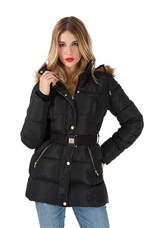 Arkind Manteau Hiver À Elegant Uni Jacket Long Veste Femme Zip AArwdqTv