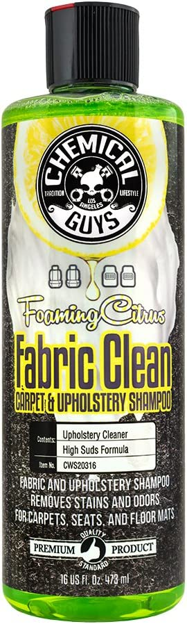 Chemical Guys Foaming Citrus Fabric Clean Carpet & Upholstery Shampoo