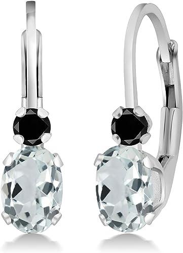 14K Yellow Gold White Zircon /& Aquamarine Butterfly Screwback Stud Kid Earrings