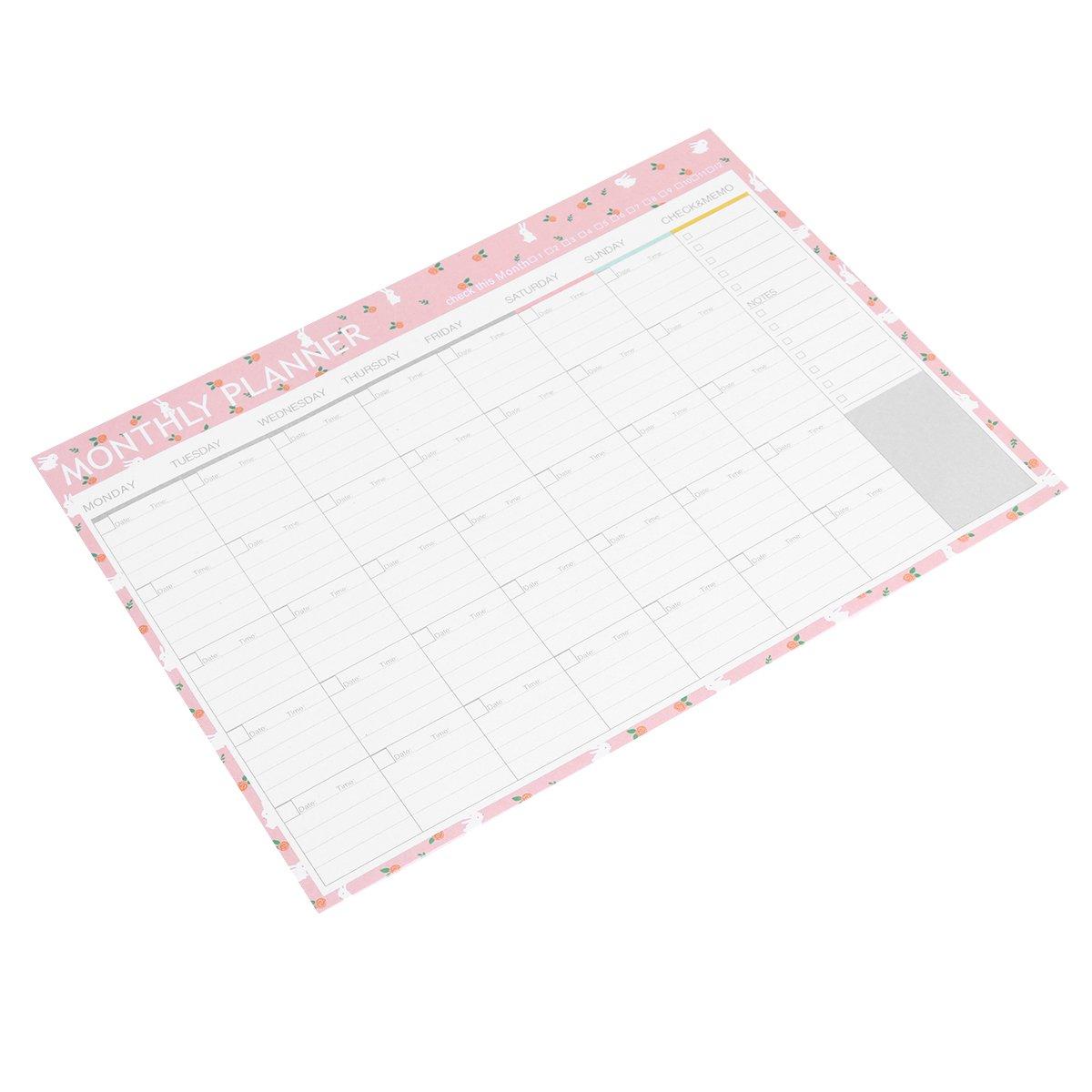 NUOLUX Planificador mensual Calendario Calendario ...