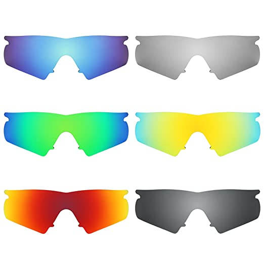 0d04470f97 Revant Replacement Lenses for Oakley M Frame Hybrid 6 Pair Combo Pack K025   Amazon.co.uk  Clothing
