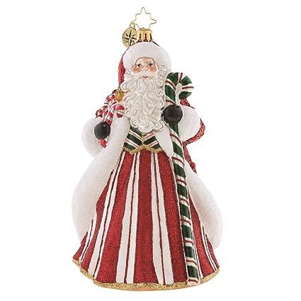 Christopher Radko Peppermint Candy Kringle Santa Glass Ornament - Amazon.com: Christopher Radko Peppermint Candy Kringle Santa Glass