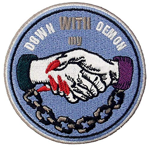 Down with My Demon Patch Embroidered Applique Badge Iron On Sew On Emblem]()