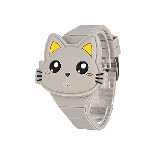 Reloj Infantil Digital Electrónico Niña Nino de Silicona de Moda Dibujos Animados Animal LED Pantalla Reloj de Pulsera: Amazon.es: Relojes