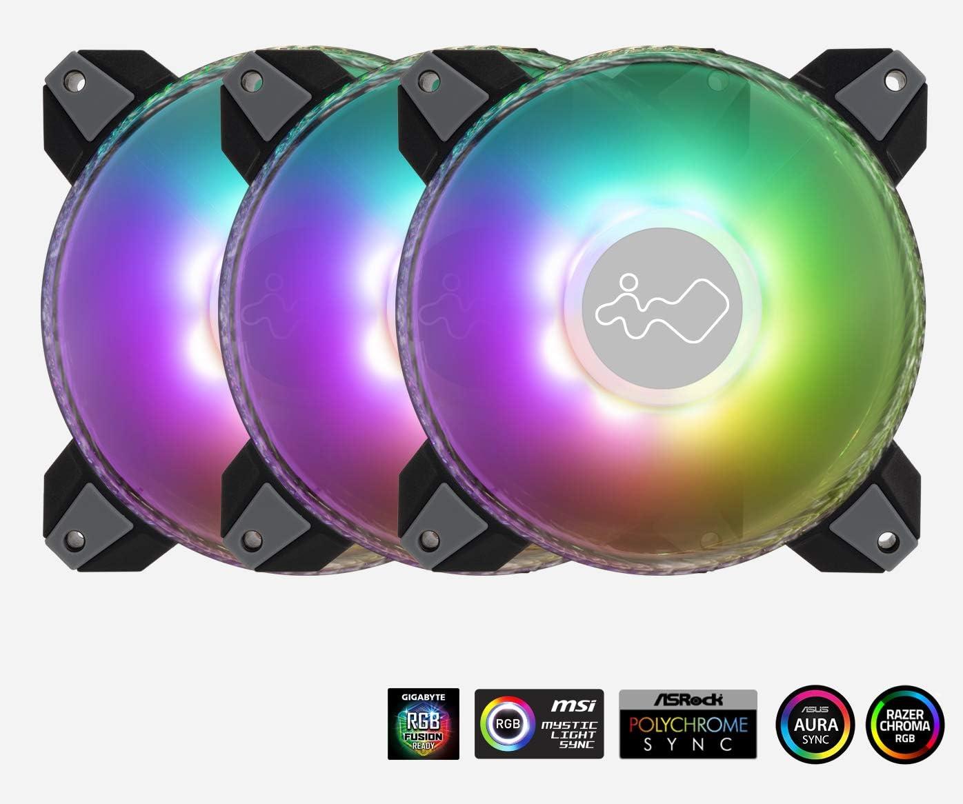 InWin Saturn Addressable RGB Triple Fan Kit (Controller Included)