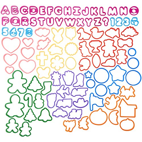 Wilton Cookie Cutters Set, 101-Piece - Alphabet, Numbers and Holiday Cookie Cutters (Alphabet Cookie Disney Cutters)