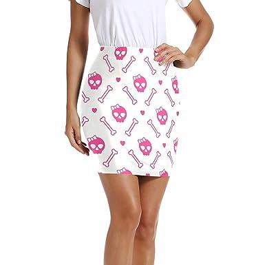 LUPINZ Mini Falda elástica para Mujer, con diseño de Calaveras y ...