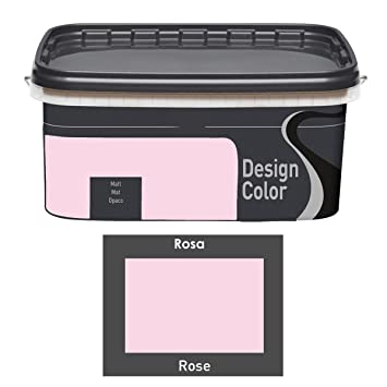Design Color 5 L. Farbige Innenfarbe, Wandfarbe Rosa, Rose, Matt
