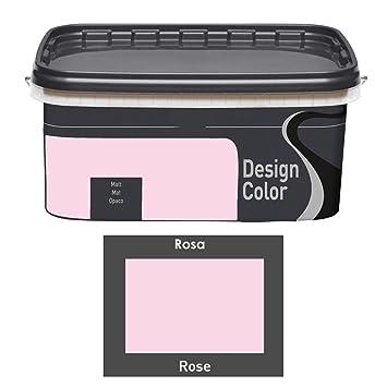Design Color 5 L Farbige Innenfarbe Wandfarbe Rosa Rose Matt