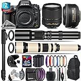 Holiday Saving Bundle for D610 DSLR Camera + 18-140mm VR Lens + 35mm 1.8G DX Lens + 650-1300mm Telephoto Lens + 500mm Telephoto Lens + 6PC Graduated Color Filer Set - International Version