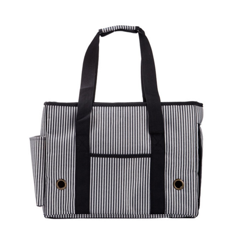 BUYITNOW Portable Strip Pet Carrier Purse Travel Soft Sided Oxford Tote Shoulder Hand Bag for Small Medium Large Dogs and Cats