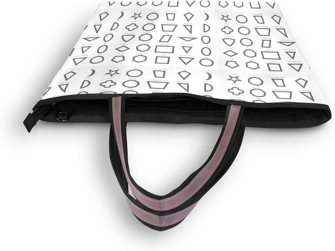 Women Handle Set Of Geometric Shapes Satchel Handbags Tote Purse Shoulder Bag Big Capacity Handbag