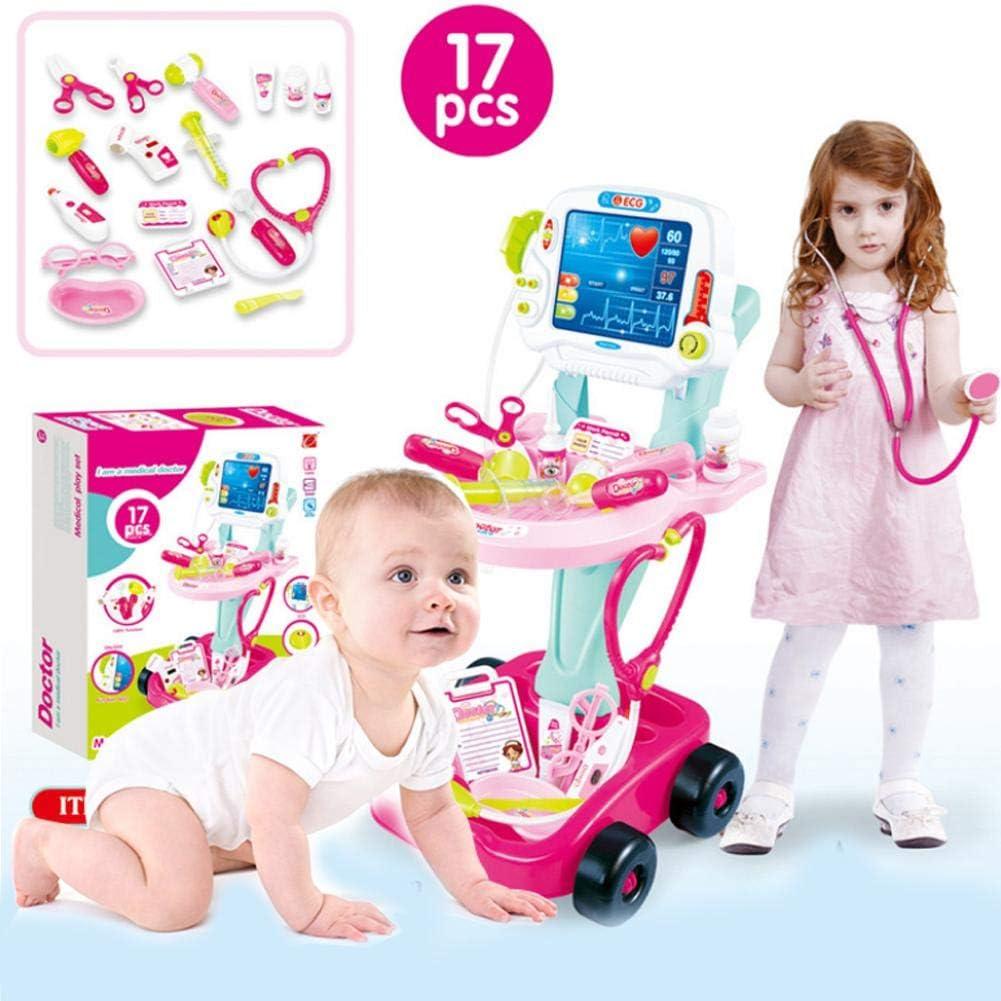 Juegos de médicos Traje Juguete Doctor Carro Médico Botiguín Electrocardiograma Estetoscopio Medico Para Niño Uadro Conjunto Enfermera Médico Kit Infantil Para Niños