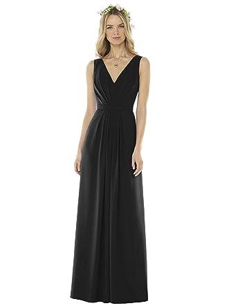 bc89a22b0fa SOCIAL BRIDESMAIDS Style 8157 Floor Length Nu-Georgette Pleated Skirt  Formal Dress - Sleeveless V