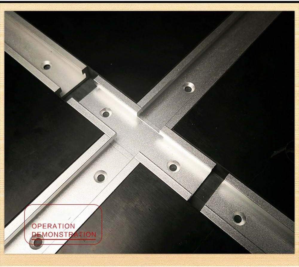 400mm, Blanc - Chute Laecabv T-Slot Rail Mitre T-Slot T-Tracks Jig Outils Aluminium T-Tracks Mitre Jig Fixation Fente pour Travail du Bois Routeur De Travail Du Bois