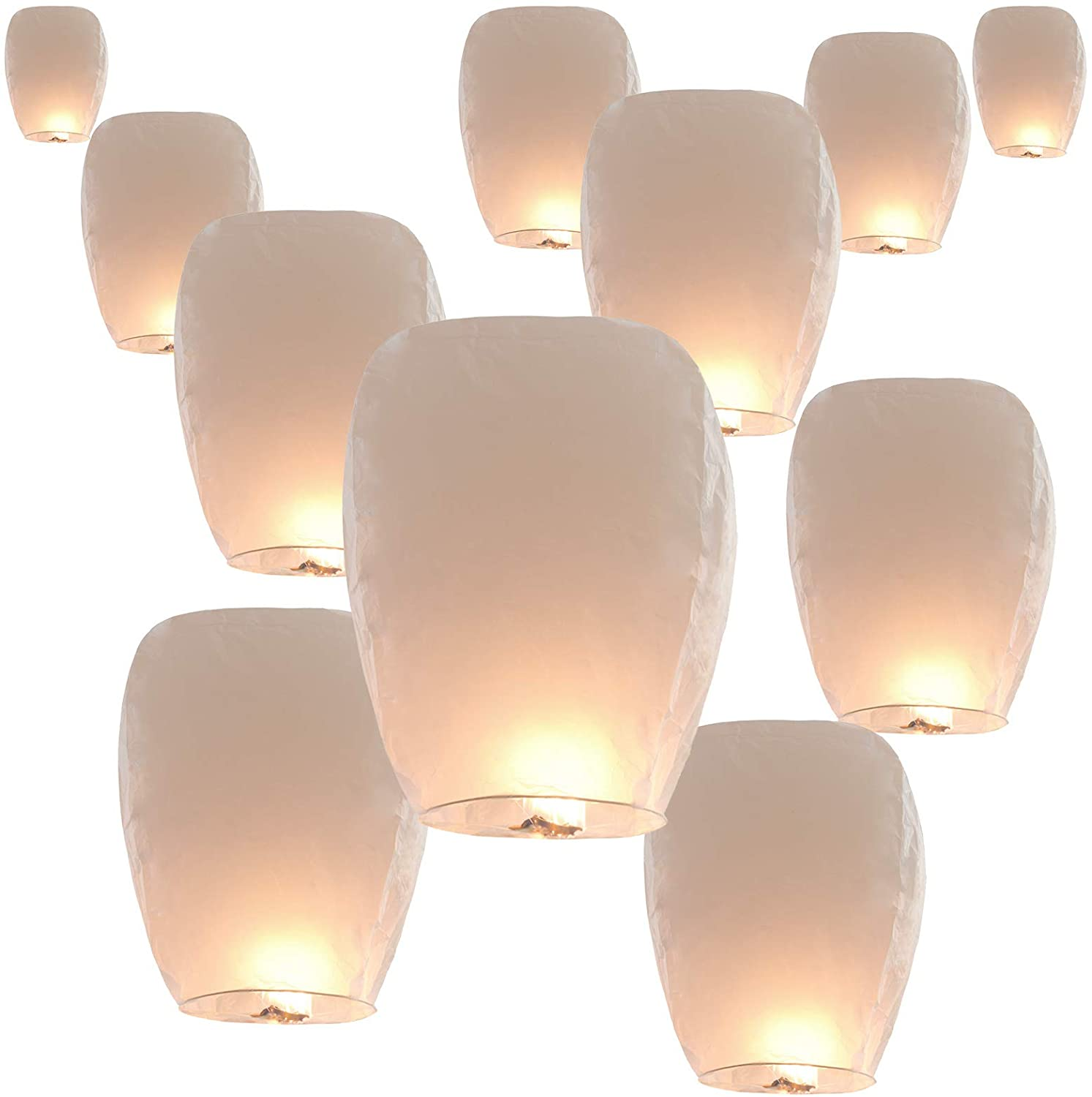New Year Celebration and More 5 Pack Chinese Lanterns Sky Paper Lanterns 100/% Biodegradable Environmentally Friendly Wishing Lanterns for Wedding Birthday Party