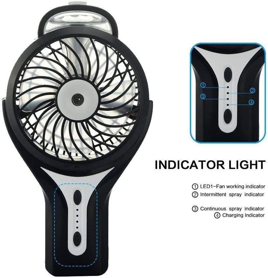 Air Cooling Fan Handheld USB Fan with Air Cooling Rechargeable Portable Mini Cooling Fan Summer Accessory
