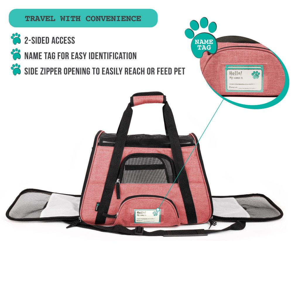 1d7f846fd37 PetAmi Premium Airline Approved Soft-Sided Pet Travel Carrier by  Ventilated, Comfortable Design with larger image