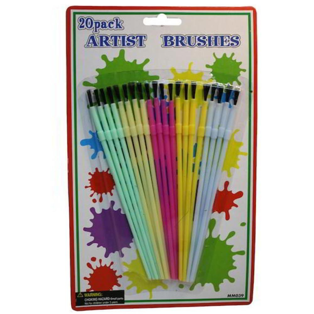 Bulk Buys MM039-72 20 Piece Artist Soft Brushes - Pack of 72