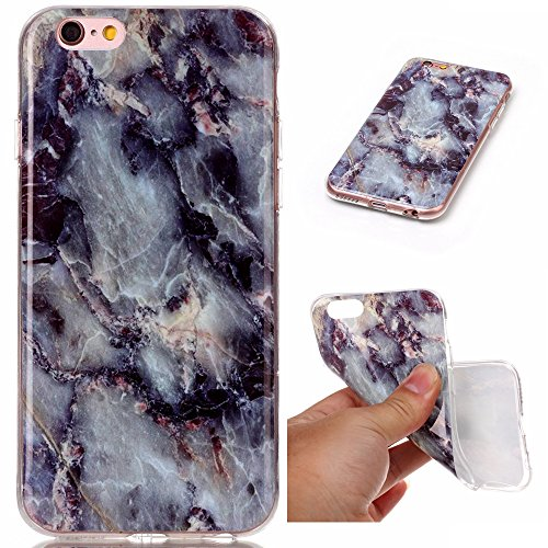 iPhone 6S, iPhone 6 Case, KAMII Marble Stone Pattern Design ShockProof & Anti-Scratch Slim Fit Flexible Smooth TPU Soft Case For Apple iPhone 6S/iPhone 6 (E)