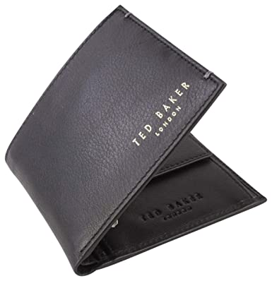 35d55a30e10 Ted Baker Harvys Mens Leather Bifold Wallet with coin Pocket (Black ...