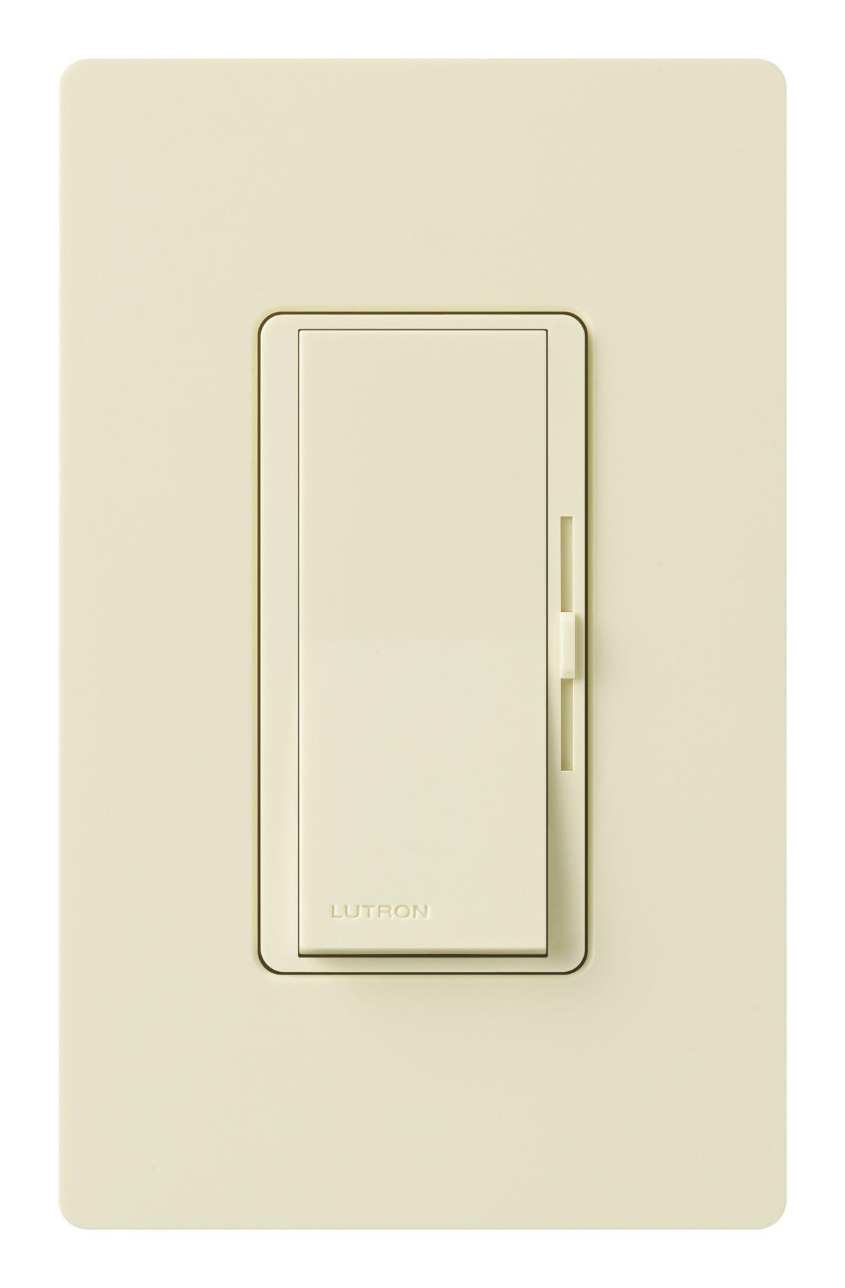 Lutron DVWFSQ-FH-AL Diva 1.5-Amp Single Pole 3-Way 3-Speed Fan Control, Almond